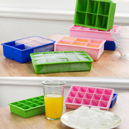 Fast-Release 15-square Flexible Soft Premium Food Grade Silicon Ice Cube Tray,Ten colors for choose.