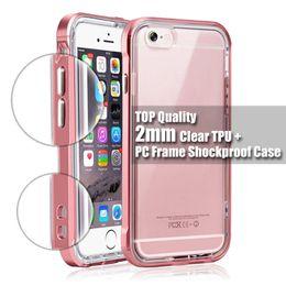 Luxe Top qualité 2mm tpu hybride étui transparent Casiers PC pour téléphone Apple iphone 7 iphone 5s 6 6s plus protection transparent 5s bumper deals à partir de pare-chocs 5s transparent fournisseurs