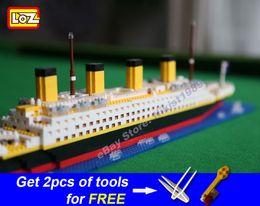 LOZ Diamond Block Titanic Building Toy Nanoblock bricks assembly model kits DIY creative gift minifigure 3D puzzle gift