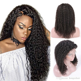 Full Lace Human Hair Wigs For Black Women With Baby Hair Pre Plucked 130% Brazilian Kinky Curly Human Hair Wig Non-Remy Free Shipping