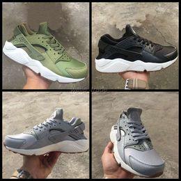 Huraches verdes en venta-2017 Air Huarache I Zapatillas para Hombre Mujer, Verde Negro Zapatillas Gris Triple Huaraches Athletic Zapatillas Hombre huraches Zapatos Deportivos