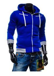 Wholesale Stylish Sports Jackets - Free Shipping 2016 Fashion Stylish Men's Slim Fit Hooded Cardigan Coat Sport Hoodies Fleeces Jacket Top Sweatshirts