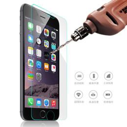 2017 cas transparents pour iphone 4s Verre anti-éclaboussures 9H 2.5D pour iPhone 5 5s SE 6 6s Plus 7 7 Plus 4 4s 5c Film protecteur pour écran Film Couverture cas transparents pour iphone 4s autorisation