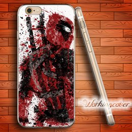 Coque Deadpool Watercolor Soft Clear TPU Case for iPhone 7 6 6S Plus 5S SE 5 5C 4S 4 Case Silicone Cover.