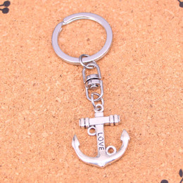 New Fashion anchor Keychains Antique Silver plated Keyholder fashion Solid Pendant Keyring gift