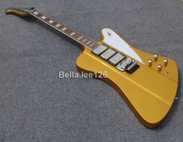 Wholesale Custom Thunder bird guitar gold sparkle color as gift Made in China guitars