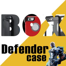 Wholesale Robot in1 Defender Case Rugged híbrido Cases Para el caso de iphone plus s s más samsung s6 s7 borde nota con clip de cinturón paquete opp