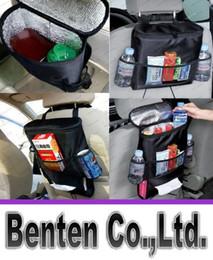 Descuento bolsas de bolsillos Japan SeiWa Car Cooler Bag Organizador fresco del asiento Bolso multi del arreglo del bolsillo Aislado Asiento trasero del coche de la silla que labra el asiento de coche Organizador de la cubierta del asiento
