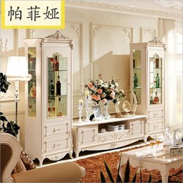 Wholesale hot selling new arrival white color High quality Living Room Wooden furniture lcd TV Stand pfy10108