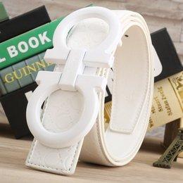 Femmes boucles de ceinture gros en Ligne-Gros Gros Buckle Hommes de luxe lettre de la ceinture authentique lisse mot loisirs hommes femmes filles filles étudiants Ceintures lisse boucle plus la taille