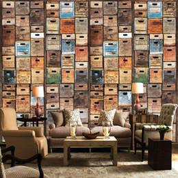 Wholesale D Stereo Custom Bookcase Bookshelf Wallpaper Mural Leisure Coffee Shop Living Room Sofa Backdrop Wallpaper Mural