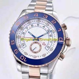 Compra Online Esfera blanca para hombre de los relojes automáticos-Relojes de lujo mecánico automático de primera marca maestro 2 AAA de calidad de acero inoxidable azul cerámica bisel zafiro blanco reloj hombre mens.