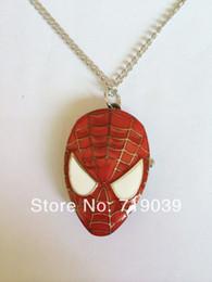 Descuento película al rojo vivo 2014 Precio de fábrica pendiente del collar de reloj del bolsillo de Spider-man de la joyería de la vendimia del encanto de la vendimia 10pcs / lot