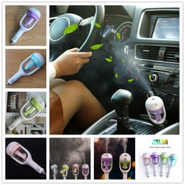 Wholesale Mini Portable Car Use Air Humidifier Ultrasonic Essential Air Atomizer Diffuser Wave Air Filter Mist Maker