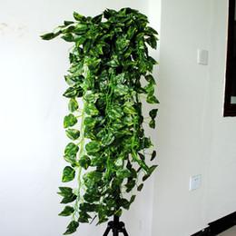Green leaf ornamental vine rattan simulation pipeline decorative plastic flowers