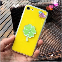 Cool Summer Ginkgo biloba Acrylic Case for iPhone6 6s Plus TPU Soft Edge Back Cover for Apple iPhone7 Plus Phone Protective Cases