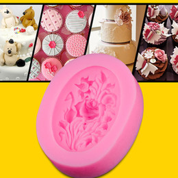 Rose Flower Silicone Fondant Cake Mold Soap Mold Chocolate Candy Mould Moulds DIY Decorating Baking Pink Kitchen Tools