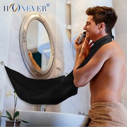 Wholesale Colors Man Bathroom Beard Care Apron Trimmer Hair Shave Beard Stylist Floral Bib Cloth Portable Bathroom Apron Travel Kits