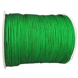 1mm Green Braided Nylon Cord Rattail Satin Braid Thread Macrame Rope Shamballa Bracelet Beading String Accessories 350m Roll