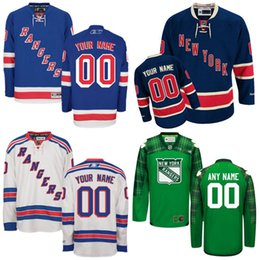 Wholesale 2016 Cheap Customized Men s New York Rangers Custom Any Name Any Number Ice Hockey Jersey Authentic Jersey Embroidery Logos