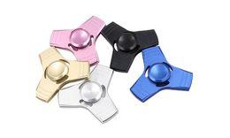 Finger Spinner Metal Aluminium Alloy rainbow 5 colors PDQ retail box #P019