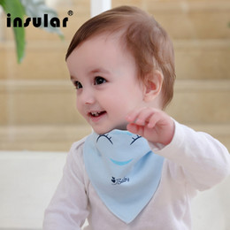 Wholesale Cotton Baby Bibs Towel Bandanas Triangle Burp Infant Cartoon Toddler Bandana Scarf Double Layers Kids Nursing Bibs