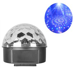 Wholesale DJ Club Bar Disco Stage Effect Lights Party Crystal LED RGB Magic Ball Auto Voice Activated Lighting Equipment System