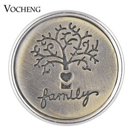 Wholesale VOCHENG NOOSA Antique Bronze Ginger Snap Charms Button Etched Family Tree mm Vn