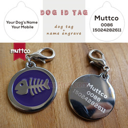 Freeshipping 30mm laser lettering fish bone dog tags dog id tags for pets Dog Tag Pendant round