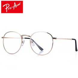Or gros cadres lunettes à vendre-Grossiste- Pro Acme Super Light-weight Round Gold Frame Lunettes Original Clear Lens Glasses Retro Circling Frame Lunettes Femme CC0874