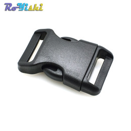 "50pcs lot 3 4""(20mm) Webbing Side Release Contoured Plastic Buckles for Paracord Bracelets & Bag Accessories"