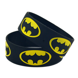 Wholesale quot Wide Band BATMAN Silicon Bracelet Wear This Latex Free Wristband To Support The One You Love
