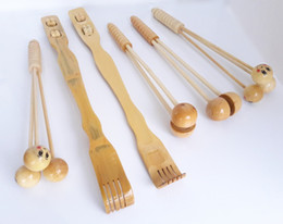 Wholesale pieces of equipment Itchy scratch Grasp the back scratching Bamboo tickling rake Wood Cripple device Bamboo massage hammers