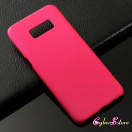 Caoutchouc pression en Ligne-Pour Galaxy S8 ultra mince mince en caoutchouc dur PC de protection lisse coloré Snap Retour sur la couverture pour Samsung S8