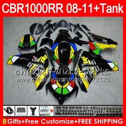 Bodywork For HONDA CBR 1000RR CBR1000 RR 08-11 CBR1000RR 08 09 10 11 Graffiti NEW 69HM19 CBR 1000 RR 2008 2009 2010 2011 Fairing kit 8Gifts