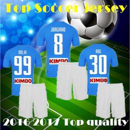 Wholesale Best Quality Napoli Jersey Soccer Jerseys kit Football Shirt Hamsik Maradona Uniform Callejon Discount Naples soccer shirt