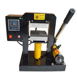 Wholesale 5 quot x5 quot Hydraulic Rosin Press Oil Press LCD display controller Dual Element PSI More Than Tons Pressure Heating