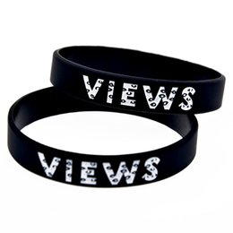 Wholesale 100PCS Lot Drake Views From The 6 Silicone Wristband Bracelet Perfect Gift for Music Fans