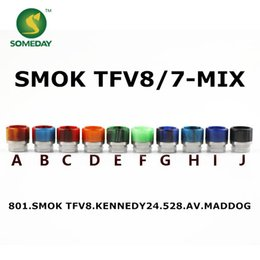 Someday factory wholesale epoxy resin stainless steel + stone drip tip ewelry SMOK TFV8&TFV12 drip tip ,510drip tips penis
