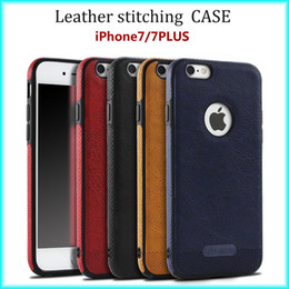For iPhone 7   6s New Business Leather Pattern Stitching Phone Case TPU Soft Shell full protection Anti-drop Case Wholesale with Opp Package