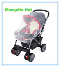 Promotion poussette bébé insecte Grossiste-Poussette Poussette Buggy Pram Moustiquaire Insect Bug Net Safe Mesh Cover