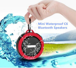 Wholesale C6 IPX7 wireless Bluetooth Speaker waterproof Suction Cup speakers Handsfree MIC Voice Box portable bluetooth for iphone
