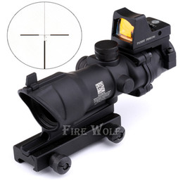 Trijicon ACOG 4x32 with Lron Sights 20mm Weaver Picatinny Rail Mount Hunting Tactical Rifle Scope with RMR Red Dot