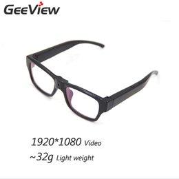 Promotion caméra verre usb Vente en gros-1920 * 1080 Mini-lunettes cachées Caméra Smart Glasses HD Camera Glasses Enregistreur vidéo USB Sunglass pour l'extérieur Myopic E