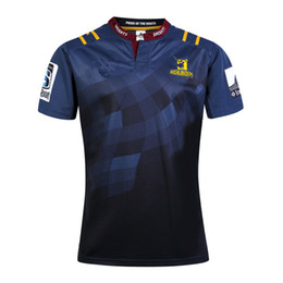 Wholesale Rugby League New Zealand Super Rugby Union Highlanders High temperature heat transfer printing jersey Rugby Shirts