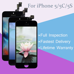 Grade A+++ LCD Display Touch Screen Digitizer Full Assembly for iPhone 5 5C 5S with Lifetime Warranty