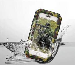 Wholesale Camouflage Phone Case For iphone 7 6s 6 Plus 5s SE Extreme Aluminum Silicone Waterproof case Fingerprint Cover