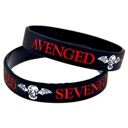 Wholesale 100PCS Lot Avenged Sevenfold Silicone Bracelet for Music Concert Show Your Support For Them By Wearing This Wristband
