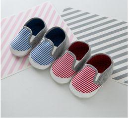 stripe colour soft toddler newborn baby shoes mesh ventilate