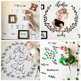 Wholesale 2017 nouveau né photographie fond accessoires photo bébé tissu toile de fond pâques bébé couvertures envelopper lettre doux couverture ins